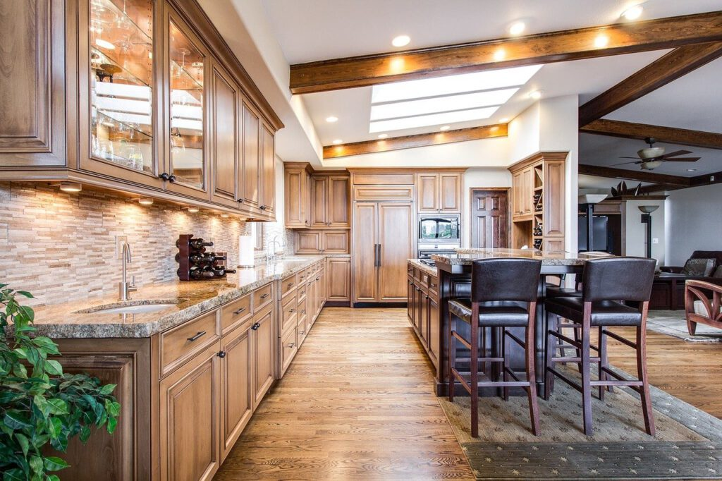 luxury wood kitchen remodel project